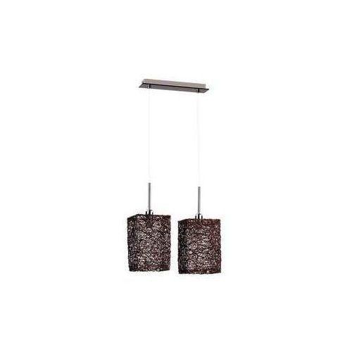 Alfa Abaka 1364202 lampa wisząca zwis 2x40W E14 brązowy