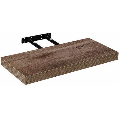 Brązowy dekor drewna półka naścienna wisząca 70 cm marki Stilista ®