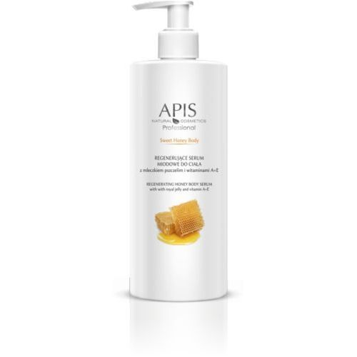 Apis sweet honey body regenerujące serum z mleczkiem pszczelim i witaminami a+e 500ml marki Apis professional