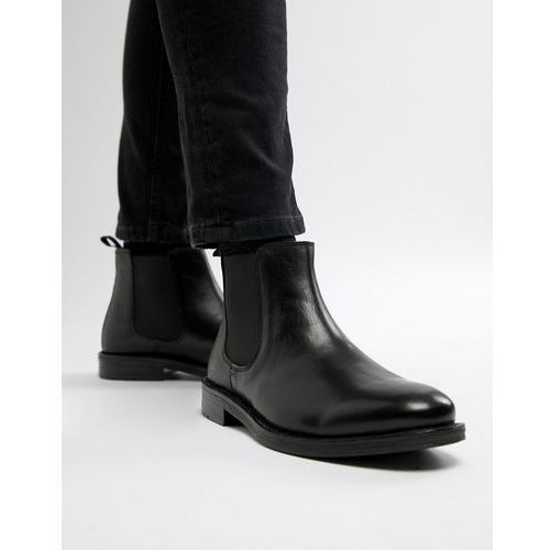 chelsea boots in black leather - black marki Silver street