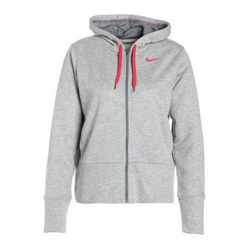 Nike Performance DRY Bluza rozpinana dk grey heather/cool grey/rush pink/rush pink, poliester