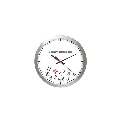 Zegar aluminiowy szczęśliwy czas