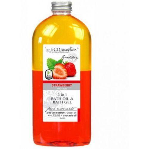 ECO RECEPTURA Strawberry - dwufazowy olejek do kąpieli 500 ml, 36359