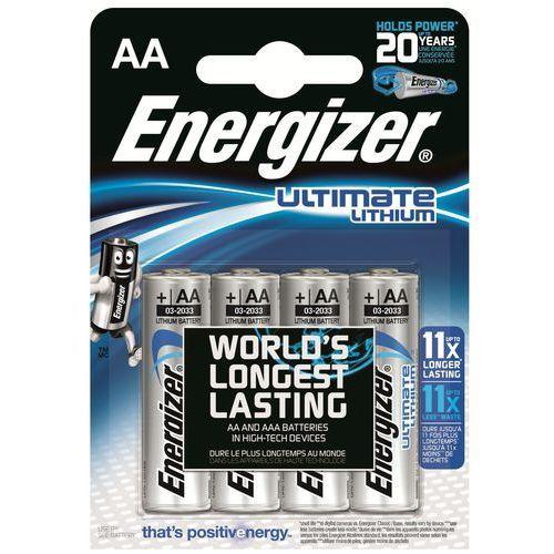 4 x bateria foto litowa Energizer L91 Ultimate Lithium R6 AA - produkt z kategorii- Akumulatorki