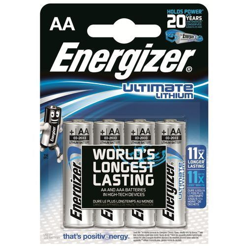 Energizer 4 x bateria foto litowa  l91 ultimate lithium r6 aa