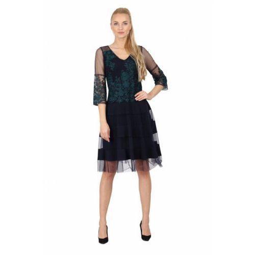 Sukienka wizytowa model 1024 navy marki Margo collection