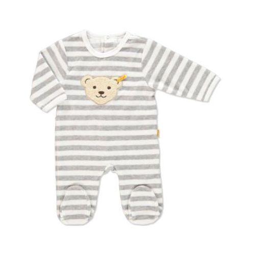 STEIFF Baby Nicki Śpioszki w paski softgrey, kolor szary