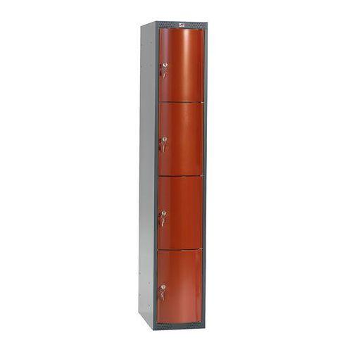 Ekskluzywne szafy osobiste 1x4 schowkim Kolor drzwi: Czerwony metalizowany