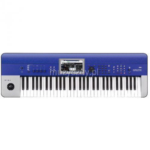 krome 61 blue syntezator, workstation, kolor niebieski wyprodukowany przez Korg