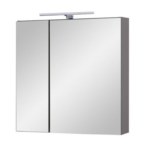 Szafka lustrzana z oświetleniem Natur 60 cm biały / grafit (5907798017058)