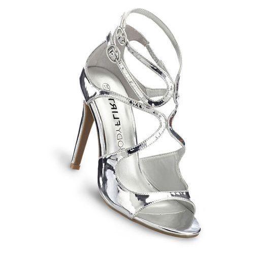 Sandały srebrny metaliczny marki Bonprix