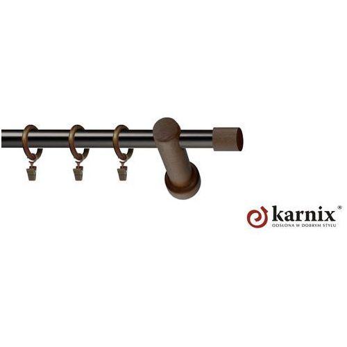 Karnisz nowoczesny mirage pojedynczy 19mm vigo mini wenge - antracyt od producenta Karnix