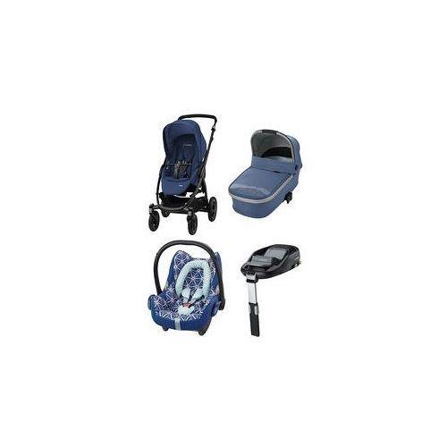 W�zek wielofunkcyjny 4w1 stella + cabrio fix + baza + gratis (river blue) marki Maxi-cosi