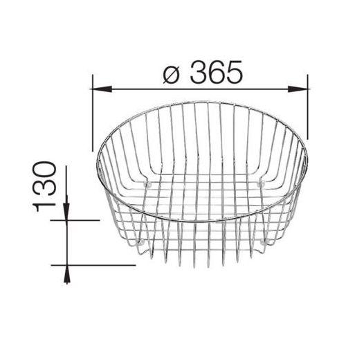 Blanco kosz na naczynia stal nierdzewna d=362 mm (4020684419000)