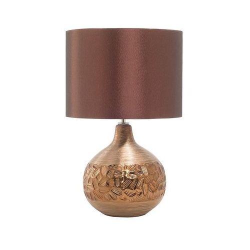Nowoczesna lampka nocna - lampa stojąca w kolorze brązowym - YAKIMA (7081451339546)