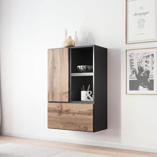 High glossy furniture Nowoczesna komoda rock 17 antracyt mat - wotan mat