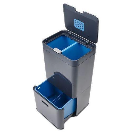Joseph joseph Kosz na śmieci totem intelligent waste 58l grafitowo-niebieski zamów przez telefon 514 003 430