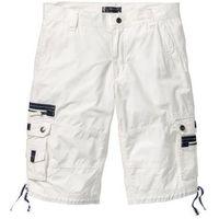 Bermudy loose fit biały marki Bonprix