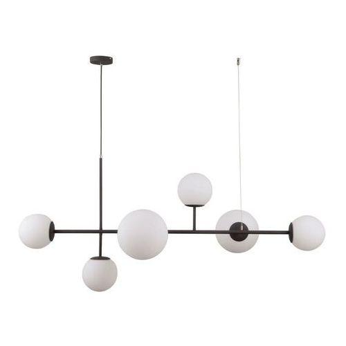Italux Vailante PND-31221-6A-SBL lampa wisząca zwis 6x5W E27+E14 biała/czarna (5900644315797)