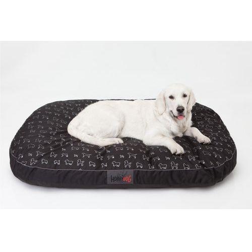 Xxl materac owalny - czarny w pieski marki Hobbydog