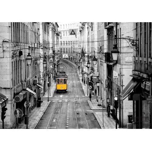Fototapeta lizbona - żółty tramwaj 10330 marki Consalnet