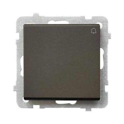 Ospel Przycisk dzwonek sonata 10ax czekoladowy metalik ip20 łp-6r/m/40 (5907577448509)