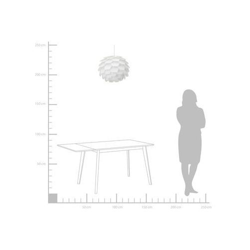Beliani Lampa wisząca biała segre duża (4260580939701)