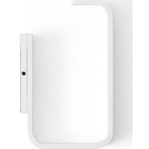 Uchwyt na papier toaletowy prostokątny biały (5709262032938)
