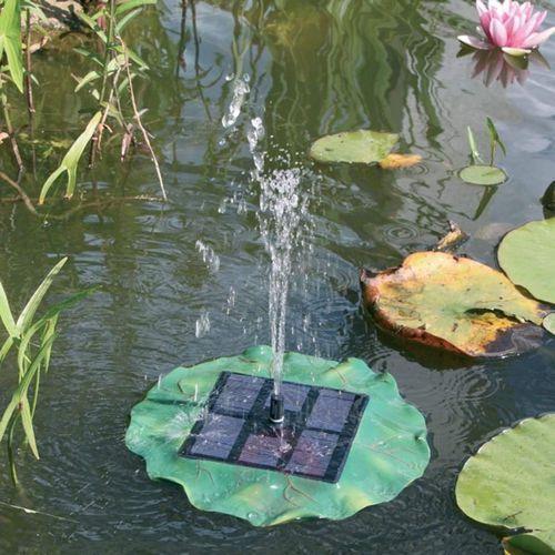 Fontanna ogrodowa solarna pływająca lilia wodna 101770, maks. 160 l/h, 0,4 m, (Øxw) 300 mmx105 mm marki Esotec