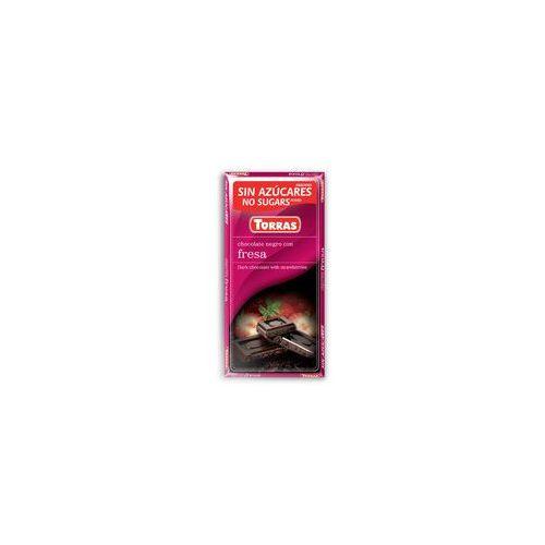 Czekolada gorzka z truskawkami bez dodatku cukru Torras 75g, 14802