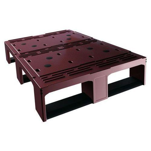 Połówka palety z tworzywa, czerwony/czarny, od 1 szt. palety lekkie. mocne, do u marki Craemer