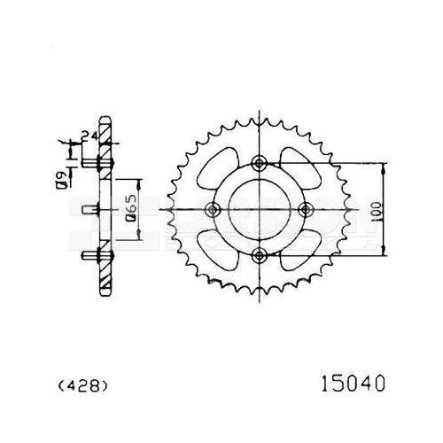 Jt sprockets Zębatka tylna stalowa jt 1540-41, 41z, rozmiar 428 2301314 sym husky 125