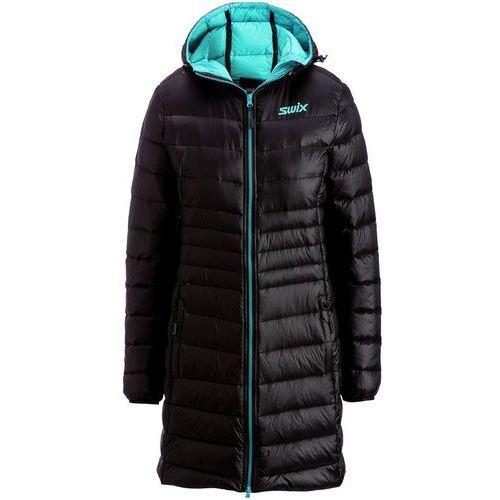 płaszcz puchowy romsdal black/tundra blue s marki Swix