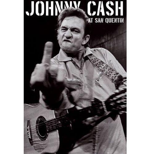 Johnny Cash koncert w Więzieniu San Quentin portrait - plakat - produkt z kategorii- Plakaty