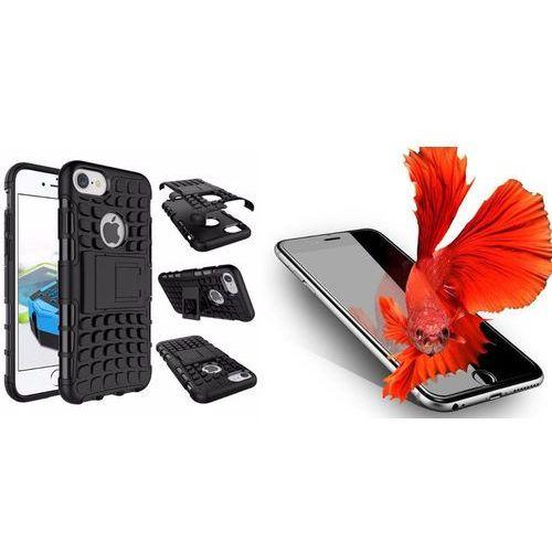 Zestaw | Perfect Armor Czarny | Pancerna obudowa + Szkło ochronne Perfect Glass dla modelu Apple iPhone 7 Plus