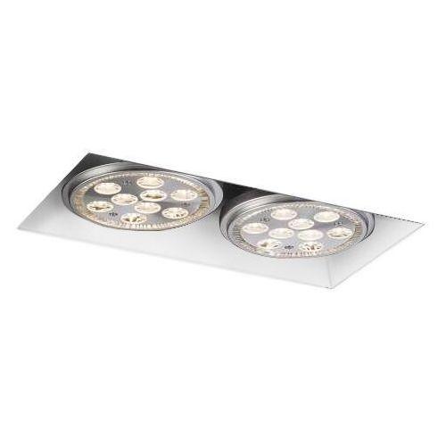 Shilo Wpust lampa sufitowa yatomi 3331/gu10/bi prostokątna oprawa podtynkowa oczka regulowane białe