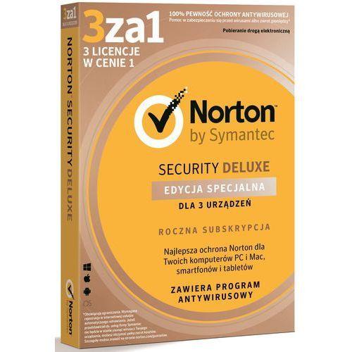 Program SYMANTEC Norton Security Deluxe 3.0 PL (3 stan. 12 mies.) + Zamów z DOSTAWĄ JUTRO! + DARMOWY TRANSPORT!