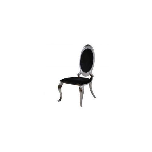 Krzesło glamour Victoria Black - nowoczesne krzesło tapicerowane, kolor czarny