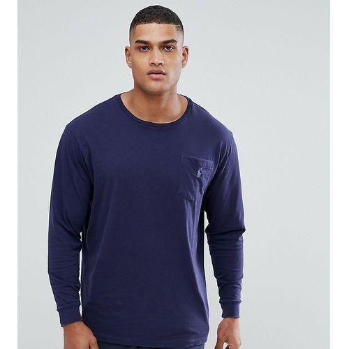 Polo Ralph Lauren Big & Tall Long Sleeve Pocket T-Shirt with Logo in Dark Navy - Navy, 1 rozmiar