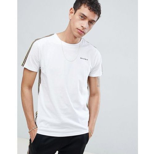 Bellfield T-Shirt With Arm Tape In White - White