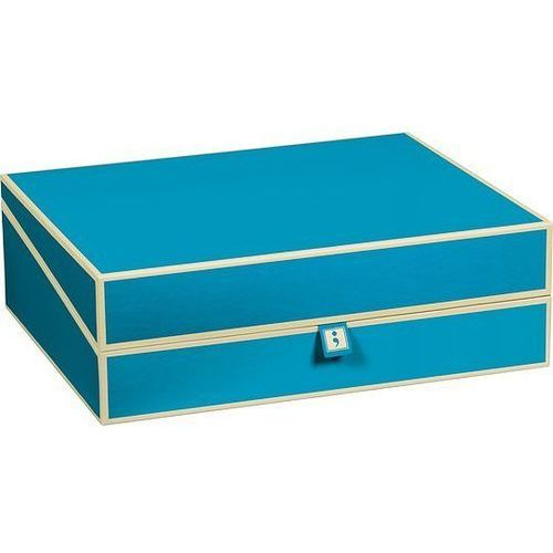 Pudełko na dokumenty die kante turkusowe marki Semikolon