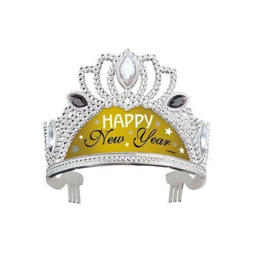 Unique Tiara srebrno-złota happy new year - 1 szt.