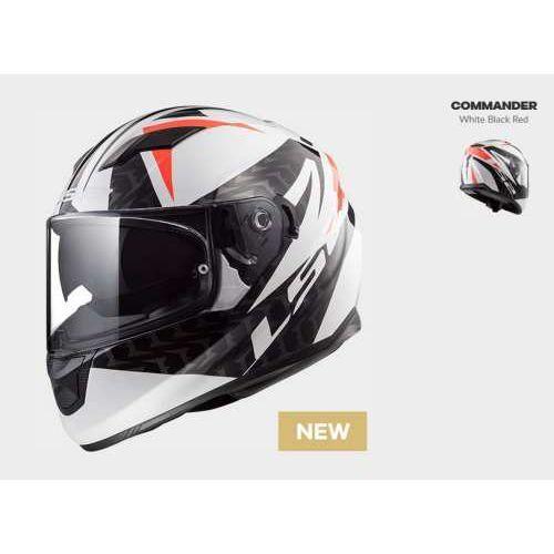 Kask motocyklowy ff320 stream evo commander w/b red nowość 2018 roku! marki Ls2