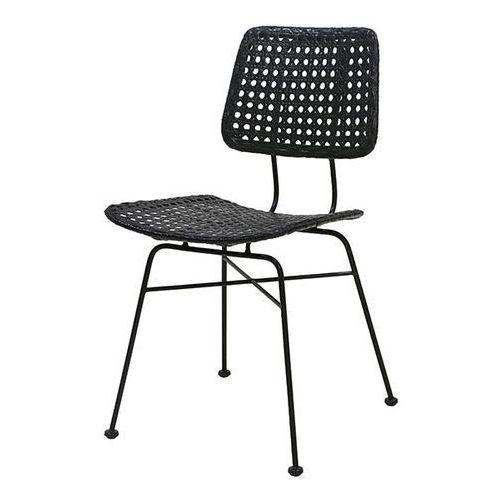 HK Living Krzesło rattanowe czarne MZM4659, MZM4659