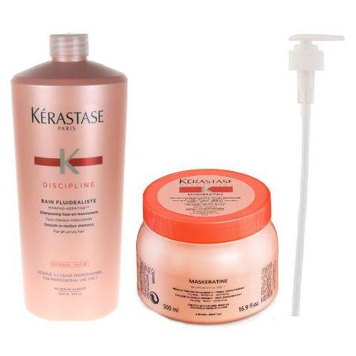 fluidealiste | zestaw dyscyplinujący włosy: szampon 1000ml + maska 500ml + pompka w prezencie! marki Kerastase
