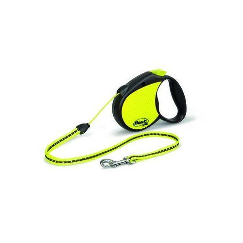 Flexi smycz automatyczna special neon m linka - 5m - do 20kg kolor: żółty (4000498021712)
