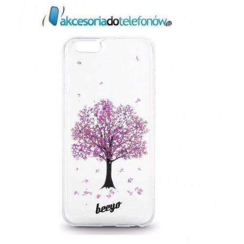 Telforceone Silikonowa nakładka etui beeyo blossom do iphone 6/6s transparentna + czerwona