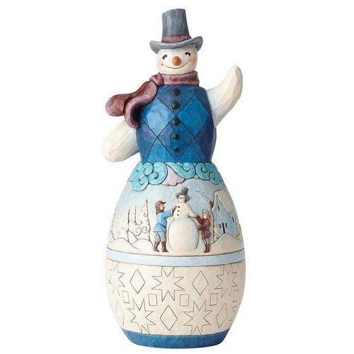 Duży bałwanek zimowe pozdrowienia 48 cm snowman with winter scene statue 6001523 figurka ozdoba świąteczna marki Jim shore