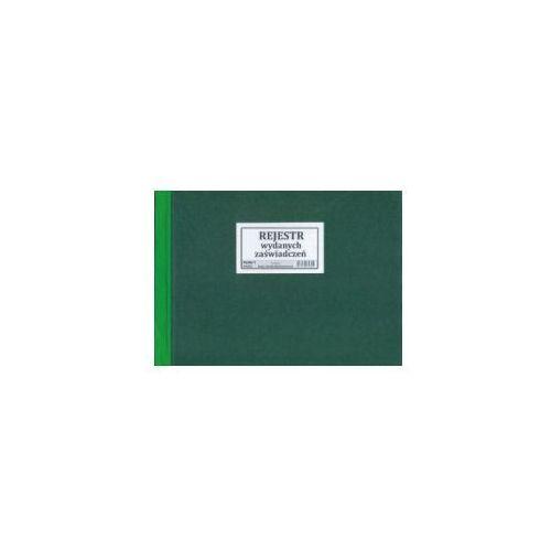 Rejestr wydanych zaświadczeń [Pu/Rz-1] (5907510474725)