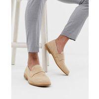 Selected Homme penny loafer in beige - Beige